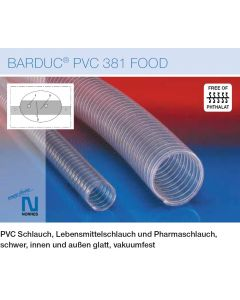 NORRES Vakuumschlauch Innen-Ø50 mm für Vakuum-Pumpen, vakuumfest Vakuum-Schlauch