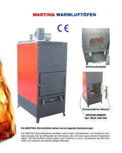 Warmluftofen Modell MARTINA 30/15